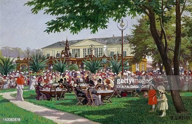 Waltz in Vienna Austria 19 th Century Watercolour