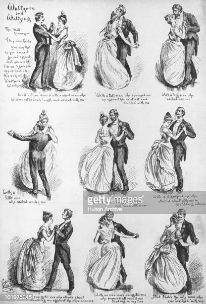 'Waltzers and Waltzing' an illustrated letter from a Kensington woman on the subject of her various dancing partners circa 1880 Each of the woman's...