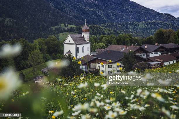 wamberg - mittenwald stock pictures, royalty-free photos & images