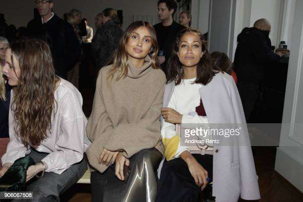 Wana Limar and Rabea Schif attend the Perret Schaad presentation during 'Der Berliner Salon' AW 18/19 at Kronprinzenpalais on January 17 2018 in...