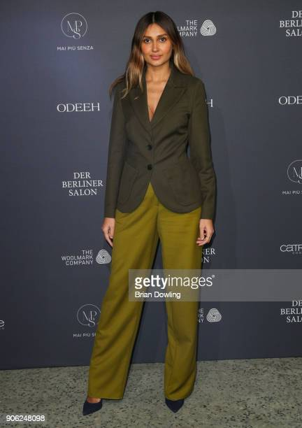 Wana Limar arrives at Odeeh Defile during 'Der Berliner Salon' AW 18/19 on January 17 2018 in Berlin Germany