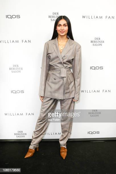 Wana Limar arrives at the William Fan Defile during 'Der Berliner Salon' Autumn/Winter 2019 at Knutschfleck on January 15 2019 in Berlin Germany