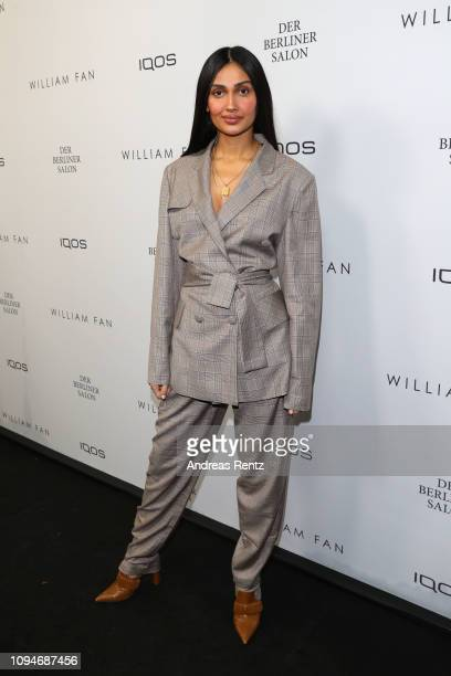 Wana Limar attends the William Fan Defile during 'Der Berliner Salon' Autumn/Winter 2019 at Knutschfleck on January 15 2019 in Berlin Germany