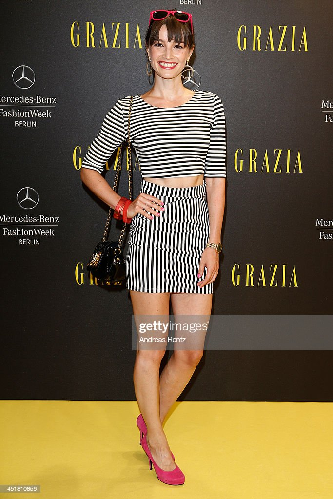 Wanda Badwal arrives for the Opening Night by Grazia fashion show during the Mercedes-Benz Fashion Week Spring/Summer 2015 at Erika Hess Eisstadion on July 7, 2014 in Berlin, Germany.