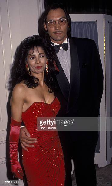 Wanda De Jesus and Jimmy Smits attend 22nd Annual Nostros Golden Eagle Awards on June 5 1992 at the Beverly Hilton Hotel in Beverly Hills California