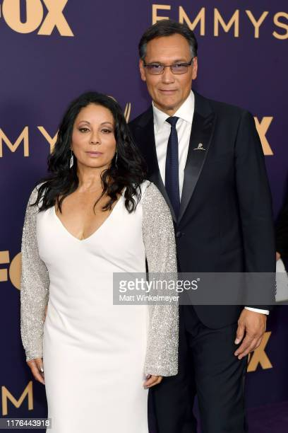 Wanda De Jesus and Jimmy Smits attend the 71st Emmy Awards at Microsoft Theater on September 22 2019 in Los Angeles California