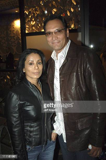 Wanda De Jesus and Jimmy Smits during HBO's Deadwood Season 2 Los Angeles Premiere After Party in Los Angeles California United States