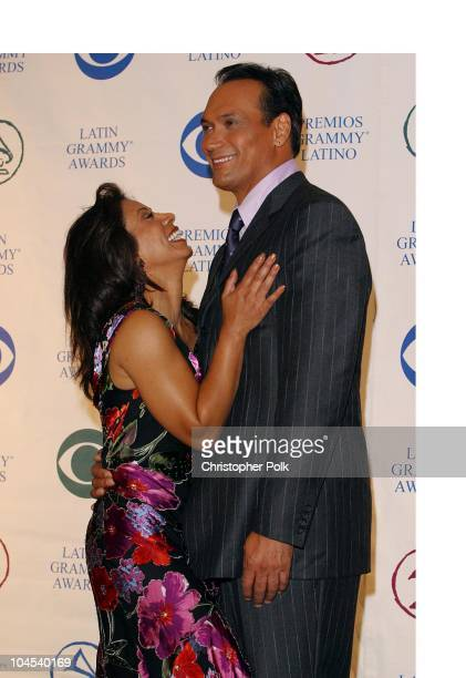Wanda De Jesus and Jimmy Smits during The 3rd Annual Latin GRAMMY Awards Press Room at Kodak Theatre in Hollywood California United States