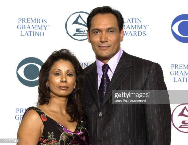 Wanda DeJesus Jimmy Smits during 3rd Annual Latin GRAMMY Awards Press Room at Kodak Theatre in Hollywood California United States