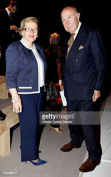Wanda Ferragamo and Beppe Modenese attend the Salvatore Ferragamo Womenswear Spring/Summer 2011 show during Milan Fashion Week on September 26 2010...