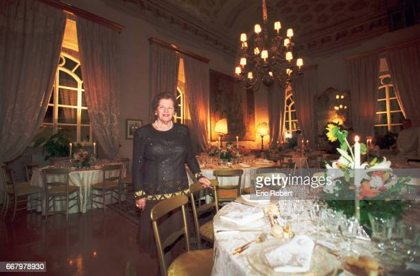 Wanda Ferragamo widow of shoe designer Salvatore Ferragamo prepares her grand dining room for guests In 1998 the Ferragamo family became the primary...