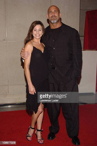 Wanda Goldberg and Bill Goldberg during 2005/2006 AE Television Networks UpFront at Rockefeller Center in New York City New York United States