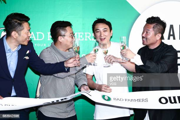 Wanda Group Chairman Wang Jianlin's son Wang Sicong attends the opening ceremony of his friend's new store at Sanlitun on May 16, 2017 in Beijing,...