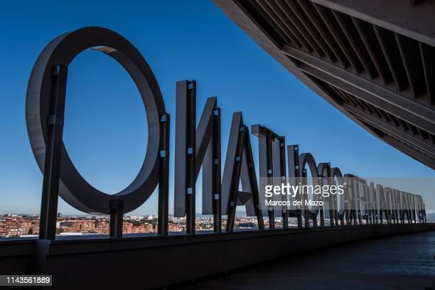 Wanda Metropolitano stadium during an open doors media day ahead of the 2019 UEFA Champions League Final. The final match will be played at Wanda...