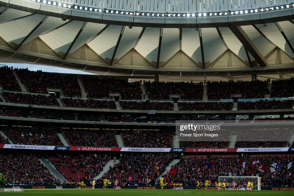 Wanda Metropolitano stadium is seen during the La Liga 2017-18 match between Atletico de Madrid and UD Las Palmas on January 28 2018 in Madrid, Spain.
