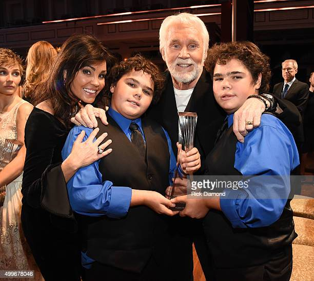 Wanda Miller and honoree Kenny Rogers attend the 2015 CMT Artists of the Year at Schermerhorn Symphony Center on December 2 2015 in Nashville...