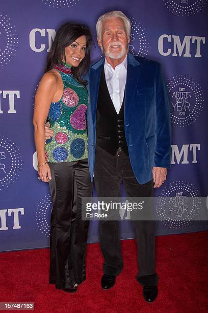 Wanda Miller and Kenny Rogers attend the CMT Artist of the Year Awards at The Factory At Franklin on December 3 2012 in Franklin Tennessee