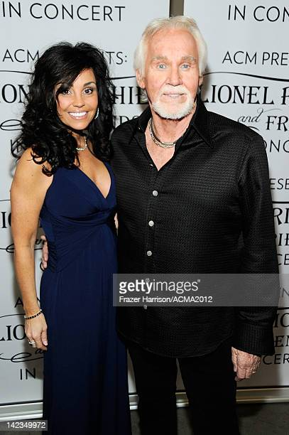 Wanda Miller and Kenny Rogers attend the Lionel Richie and Friends in Concert presented by ACM held at the MGM Grand Garden Arena on April 2 2012 in...