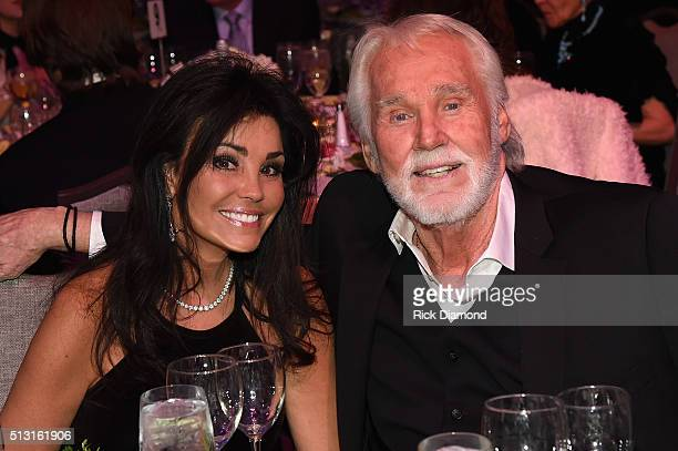 Wanda Miller and Kenny Rogers attend the TJ Martell Foundation 8th Annual Nashville Honors Gala at the Omni Nashville Hotel on February 29 2016 in...
