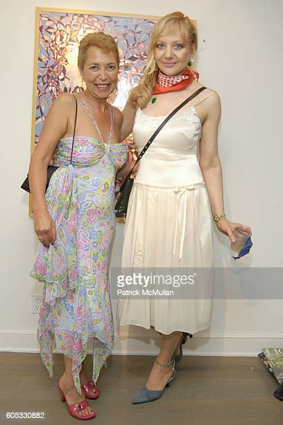 Wanda Murphy and Marijana Bego attend WANDA MURPHY Unveils her IN MEMORY OF YOU Collection at EZAIR GALLERY NELLO'S on May 28 2006 in Southampton New...