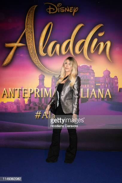 Wanda Nara attends the Aladdin photocall and red carpet at The Space Cinema Odeon on May 15 2019 in Milan Italy