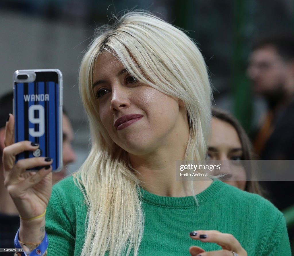 Wanda Nara Attends The Serie A Match Between Ac Milan And Fc Internazionale At Stadio Giuseppe