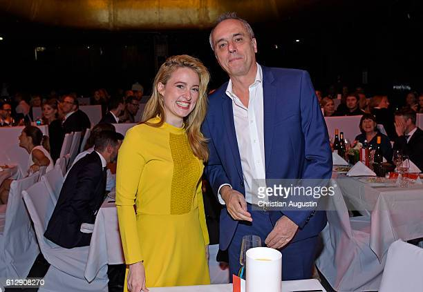 Wanda Perdelwitz and Christian Rach attend the 'Helden des Alltags' Gala at Theater Kehrwieder on October 5 2016 in Hamburg Germany