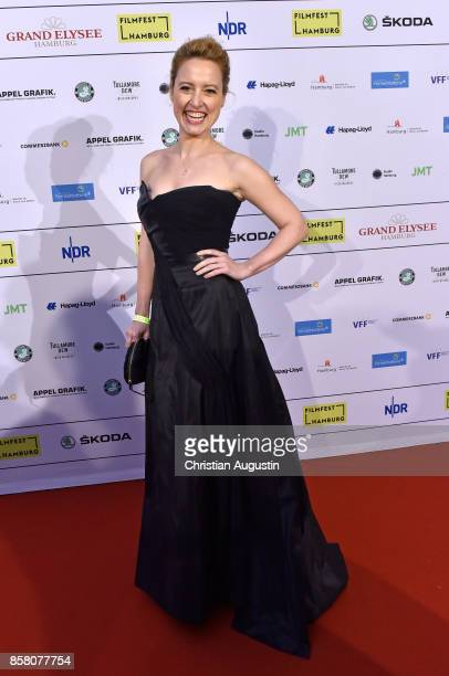 Wanda Perdelwitz attends the premiere of 'Lucky' during the opening night of Hamburg Film Festival 2017 at Cinemaxx Dammtor on October 5 2017 in...
