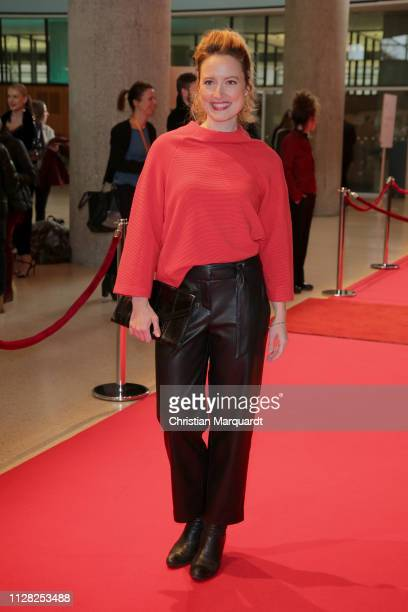 Wanda Perdelwitz attends the premiere of the film CLEO during the 69th Berlinale International Film Festival at Haus der Kulturen der Welt on...