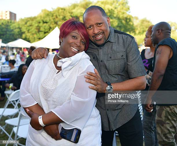 Wanda Smith and Frank Ski attend the Atlanta Funk Fest 2016 at Central Park Place on May 13, 2016 in Atlanta, Georgia.