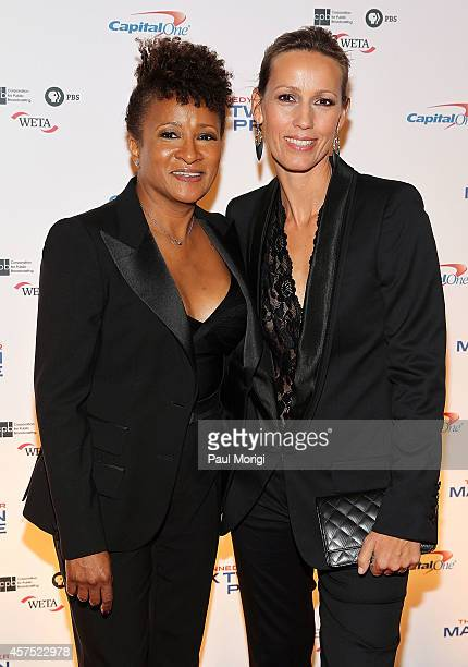 Wanda Sykes and Alex Sykes arrive at the 2014 Kennedy Center's Mark Twain Prize For American Humor honoring Jay Leno at The Kennedy Center on October...