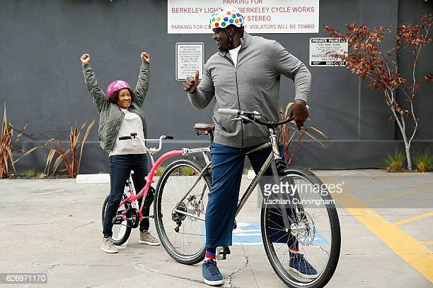 Wanda Sykes and Shaquille O'Neal during Behind The Scenes Shaquille O'Neal And Wanda Sykes Shop Small With American Express on October 31 2016 in San...