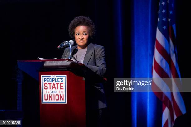 Wanda Sykes speaks onstage during The People's State Of The Union at Town Hall on January 29 2018 in New York City