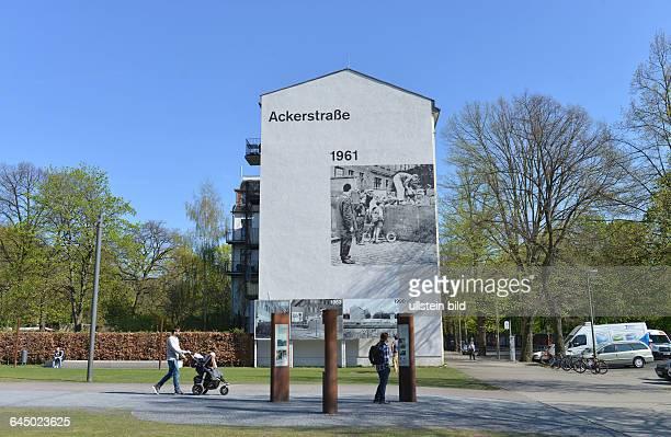 Wandbild Ackerstrasse Gedenkstaette Berliner Mauer Bernauer Strasse Mitte Berlin Deutschland / Gedenkstätte