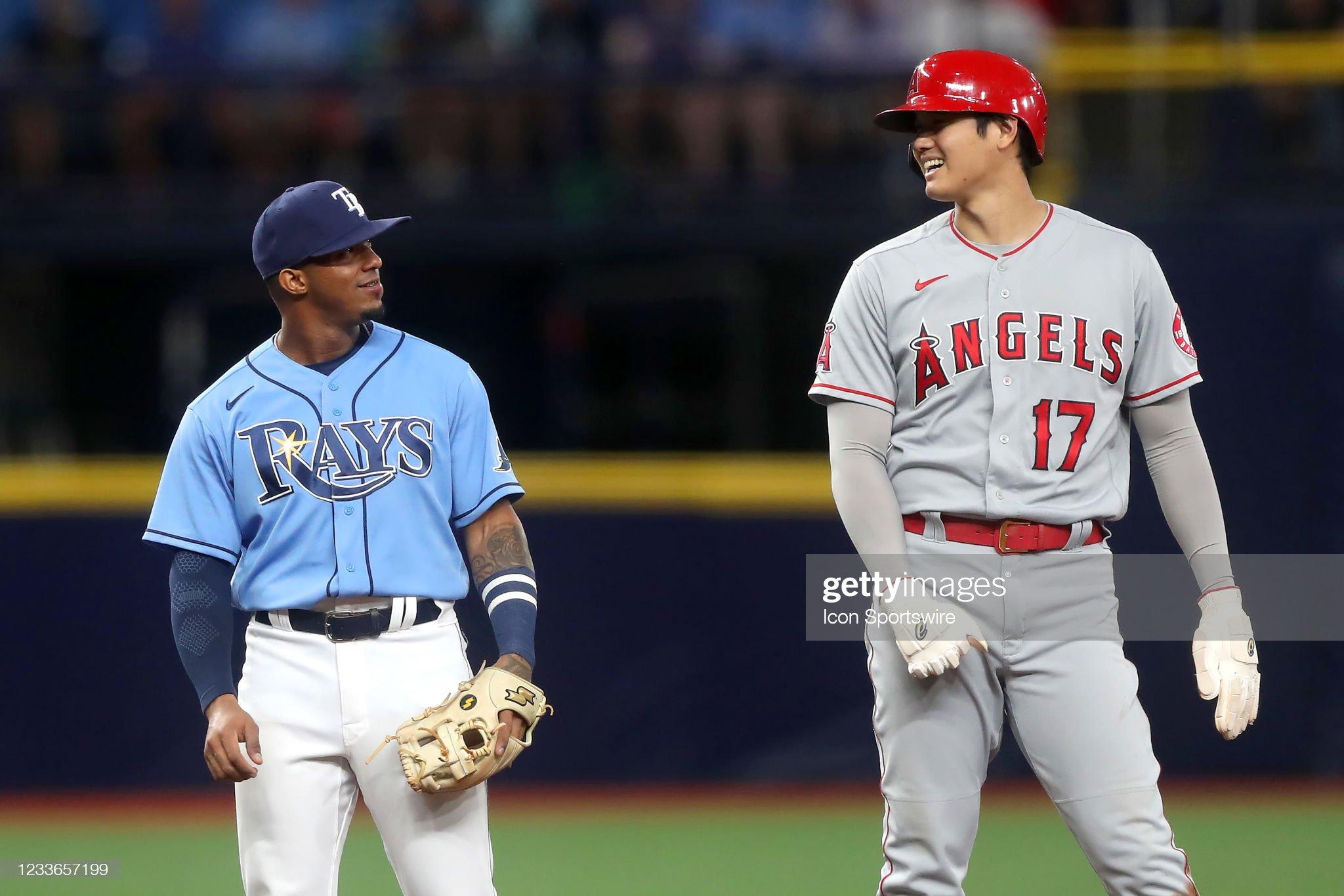 MLB: JUN 25 Angels at Rays : ニュース写真