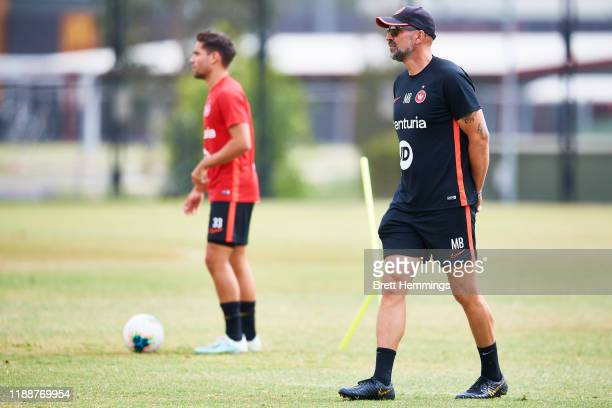 Wanderers A-League head coach Markus Babbel looks on during a Western Sydney Wanderers A-League media opportunity at Wanderers Centre of Football on...