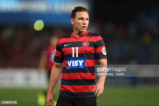 Wanderers Brendon Santalab during the first leg of the AFC Champions League Final against Al Hilal at Parramatta Stadium Sydney Australia Saturday...