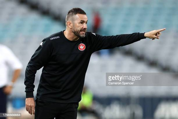 Wanderers coach Dean Heffernan signals to players during the round four W-League match between Sydney FC and the Western Sydney Wanderers at ANZ...
