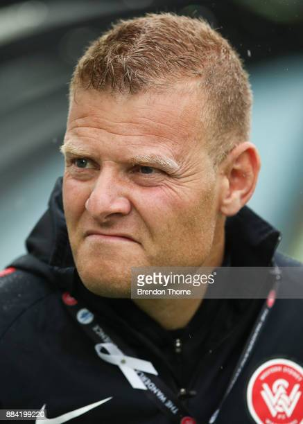 Wanderers Coach Josep Gombau looks on during the round nine ALeague match between the Western Sydney Wanderers and the Brisbane Roar at ANZ Stadium...