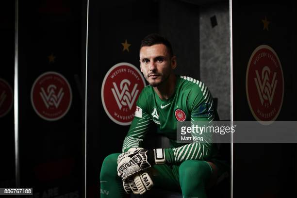 Wanderers goalkeeper Vedran Janjetovic poses during a joint Sydney FC and Western Sydney Wanderers ALeague media opportunity at ANZ Stadium on...