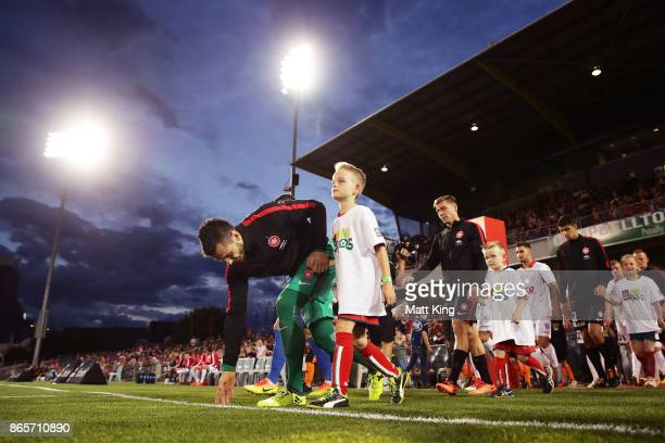 Wanderers goalkeeper Vedran Janjetovic takes to the pitch during the FFA Cup Semi Final match between the Western Sydney Wanderers and Adelaide...