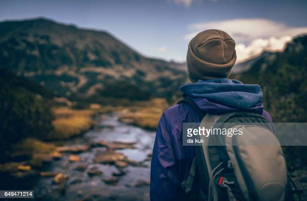 wandering in the wilderness - pirin national park stock pictures, royalty-free photos & images