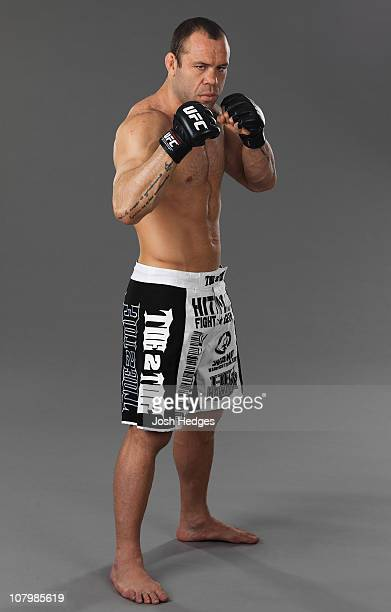 Wanderlei Silva poses for a portrait on December 24 2008 in Las Vegas Nevada