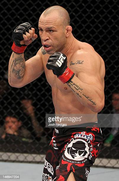Wanderlei Silva stands in the Octagon during his UFC 147 catchweight bout against Rich Franklin at Estadio Jornalista Felipe Drummond on June 23 2012...