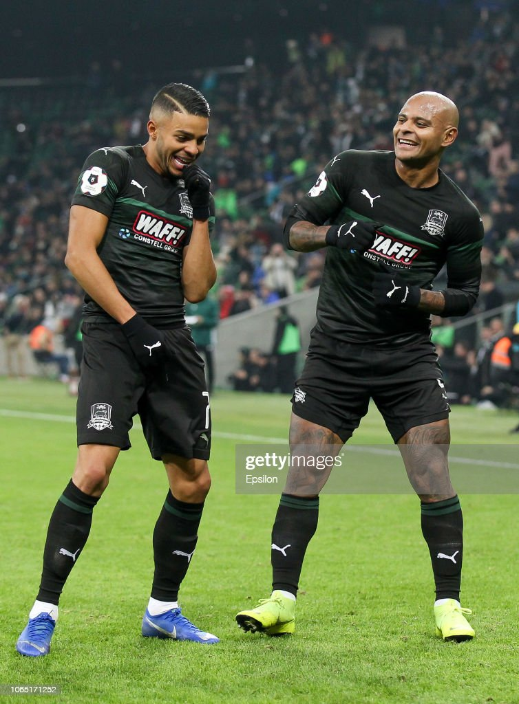 Wanderson And Ari Of Fc Krasnodar Celebrates After Scoring A Goal News Photo Getty Images