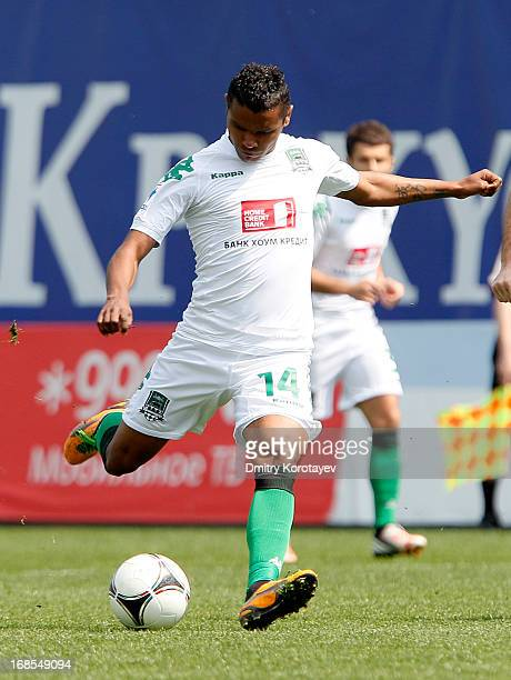 Wanderson of FC Krasnodar in action during the Russian Premier League match between FC Dynamo Moscow and FC Krasnodar at the Arena Khimki Stadium on...