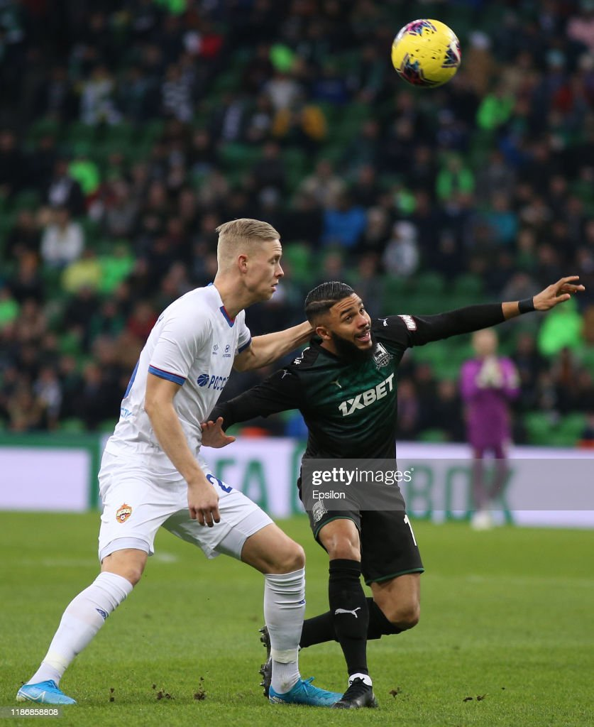 Wanderson Of Fc Krasnodar Vies For The Ball With Hordur Bjorgvin News Photo Getty Images