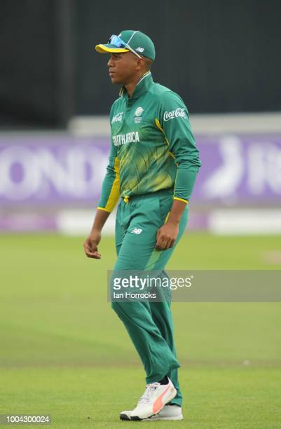 Wandile Makwetu of South Africa during the 1st ODI between England U19 and South Africa U19 at Emirates Riverside on July 23 2018 in ChesterleStreet...