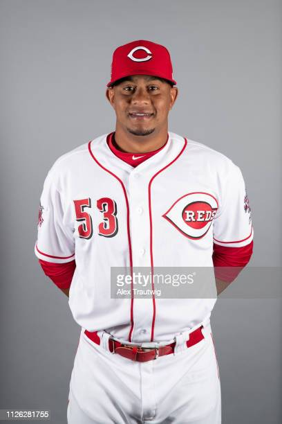 Wandy Peralta of the Cincinnati Reds poses during Photo Day on Tuesday February 19 2019 at Goodyear Ballpark in Goodyear Arizona