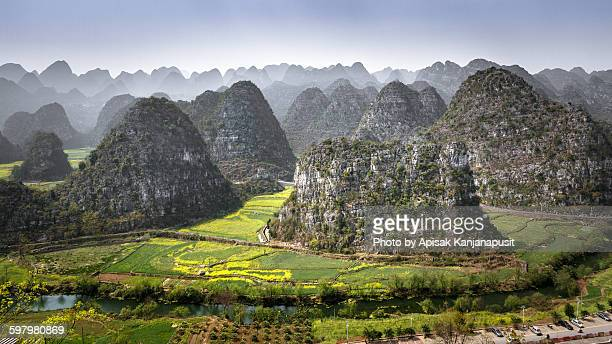 wanfenglin, forest of 10,000 karst peaks - guiyang stock pictures, royalty-free photos & images
